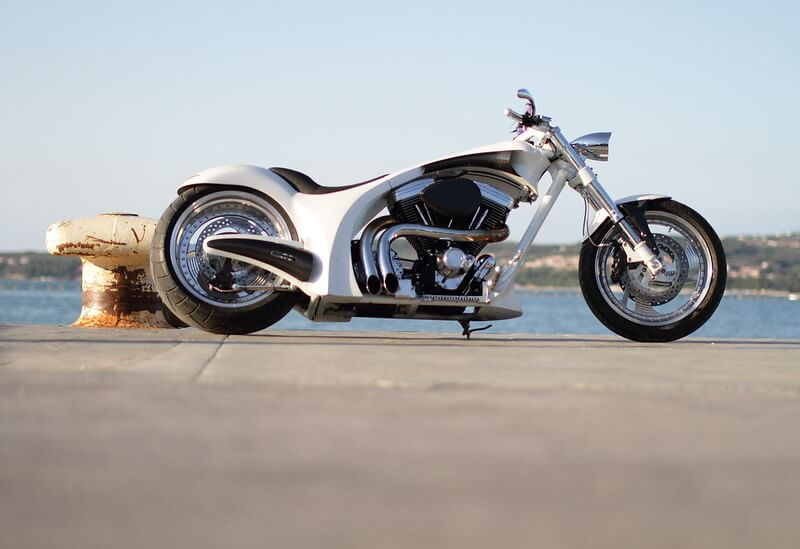 White Softayl Motorcycle